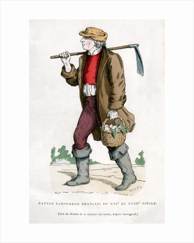 French peasant farm labourer by Anonymous