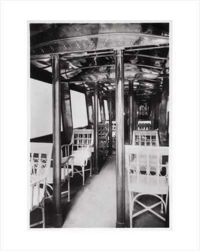 Passenger cabin of Zeppelin LZ7 'Deutschland I' by Anonymous