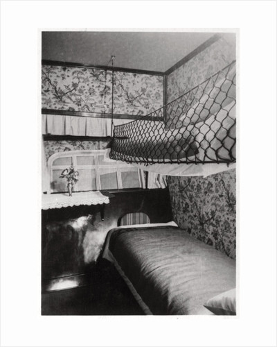 Passenger cabin at night, LZ 127 Graf Zeppelin by Anonymous