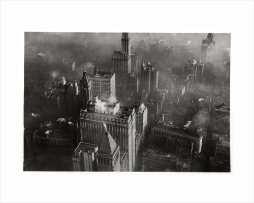 Aerial view of  Manhattan, New York City, USA, from a Zeppelin by Anonymous
