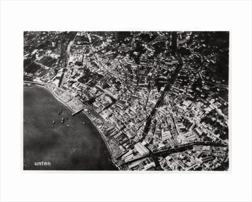 Aerial view of Funchal, Madeira, from a Zeppelin by Anonymous