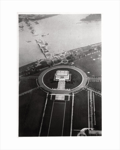 Aerial view of the Lincoln Memorial, Washington DC, USA, from a Zeppelin by Anonymous