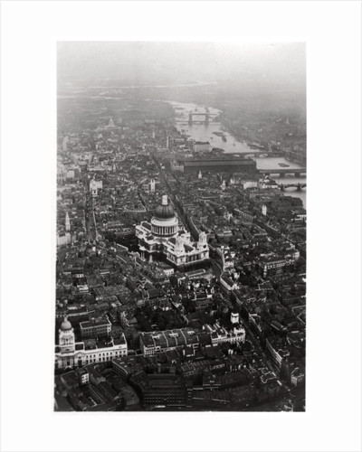 Aerial view of St Paul's Cathedral, London, from a Zeppelin by Anonymous