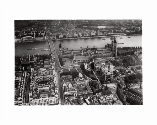 Aerial view of Westminster, London, from a Zeppelin by Anonymous