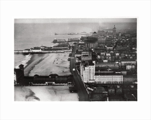 Aerial view of Atlantic City, New Jersey, USA, from a Zeppelin by Anonymous