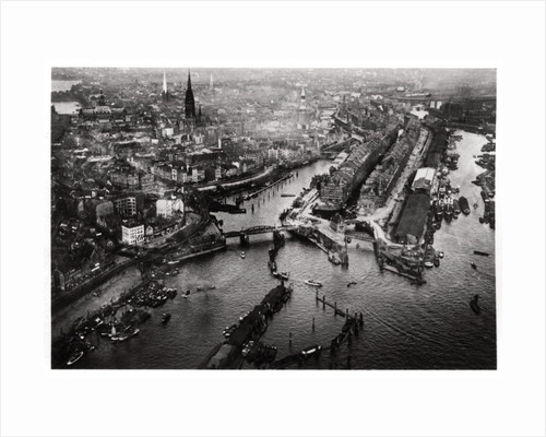 Aerial view of Hamburg harbour, Germany, from a Zeppelin by Anonymous