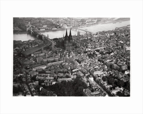 Aerial view of Cologne, North Rhine-Westphalia, Germany, from a Zeppelin by Anonymous