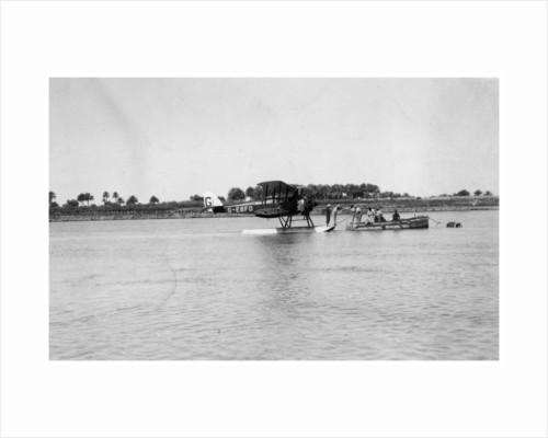 Alan Cobham's De Havilland DH50 landing on the Tigris, Iraq by Anonymous