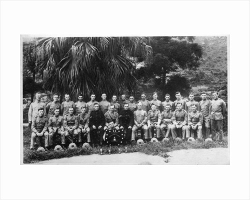 Group portrait of C Company, 2nd Battalion the King's Regiment, Iraq by Anonymous