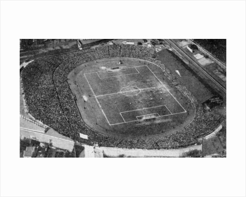Aerial view of Stamford Bridge, stadium of Chelsea Football Club, London by Anonymous