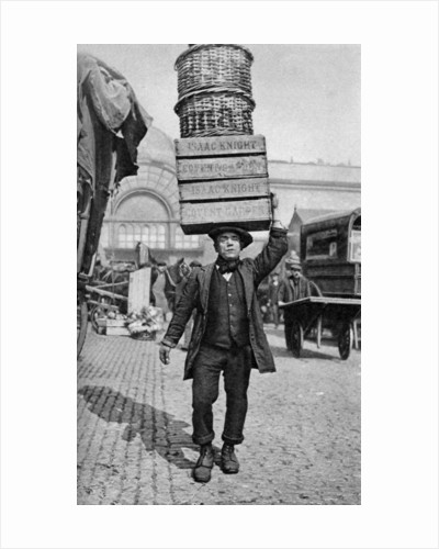 A Covent Garden market porter, London by Anonymous