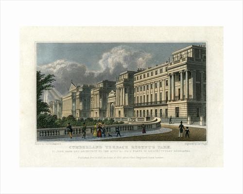 Cumberland Terrace, Regent's Park, London by J Tingle
