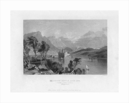 Kilchurn Castle, Loch Awe, looking towards Dalmally, Argyleshire by Thomas Barber