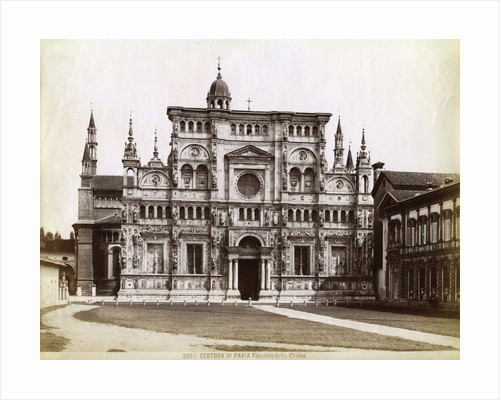 Facade, Church of the Certosa di Pavia (Charterhouse of Pavia) Lombardy, northern Italy by Anonymous