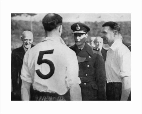 English footballer Eddie Hapgood meeting King George VI by Anonymous