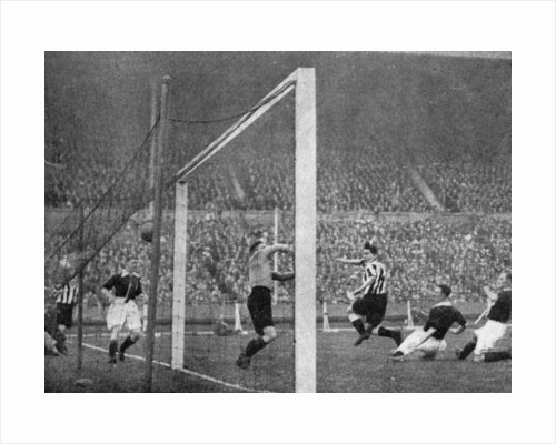Jack Allen heads Newcastle's first goal, FA Cup Final, Wembley, London by Graphic Photo Union