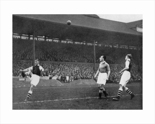 Acrobatics in a Arsenal v Chelsea match at Stamford Bridge, London by Sport & General