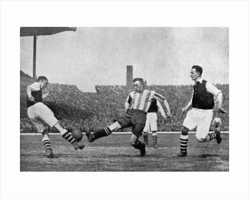 Action from an Arsenal v Sheffield United football match by London News Agency