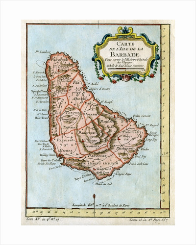 Map of Barbados by Anonymous