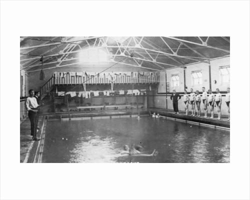 The swimming bath, Royal Navy training establishment, Shotley, Suffolk by Anonymous