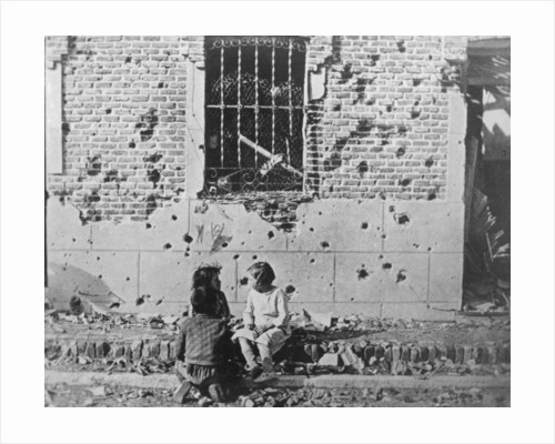 Homeless children, Barcelona, Catalonia, Spain, Spanish Civil War by Anonymous