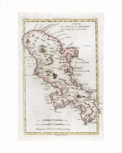 Map of the Caribbean island of Martinique by Anonymous
