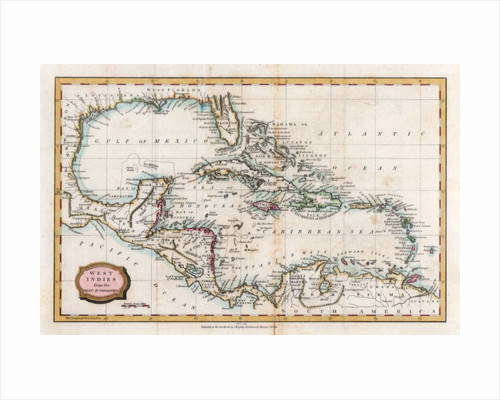 Map of the West Indies by Barlow