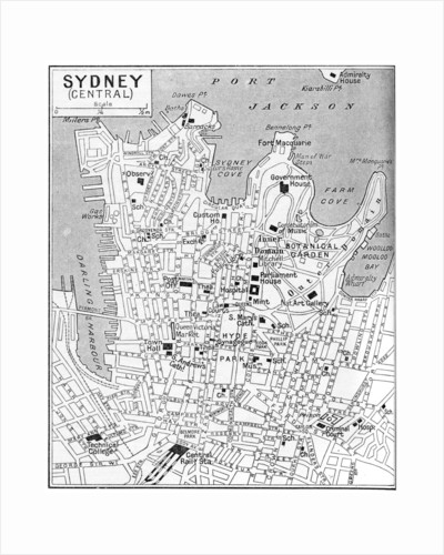 Map of central Sydney, New South Wales, Australia by Anonymous