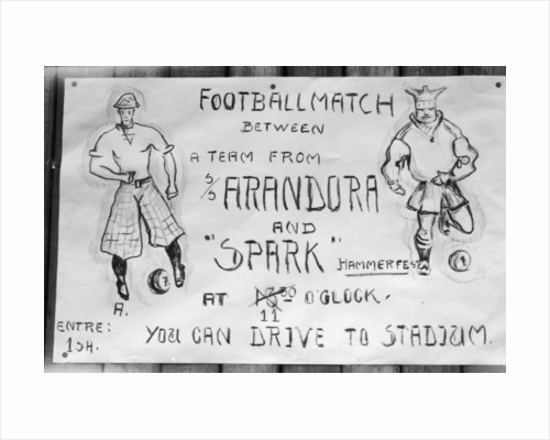 Football match poster, Hammerfest, northern Norway by Anonymous