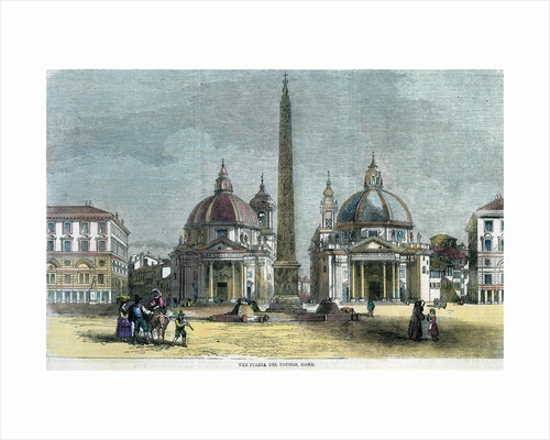 'The Piazza del Popolo, Rome', Italy by Anonymous