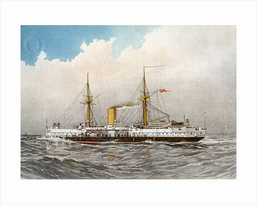 HMS Colossus, Royal Navy 2nd class battleship by William Frederick Mitchell