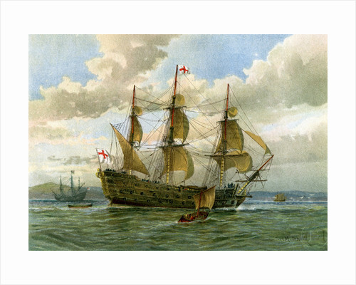 Royal Navy battle ship by William Frederick Mitchell