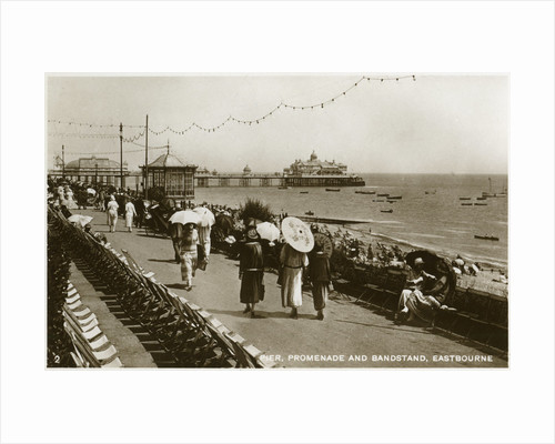 Pier, promenade and bandstand, Eastbourne, Sussex by Anonymous
