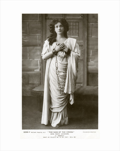 Marie Leonhard, actress by Foulsham and Banfield