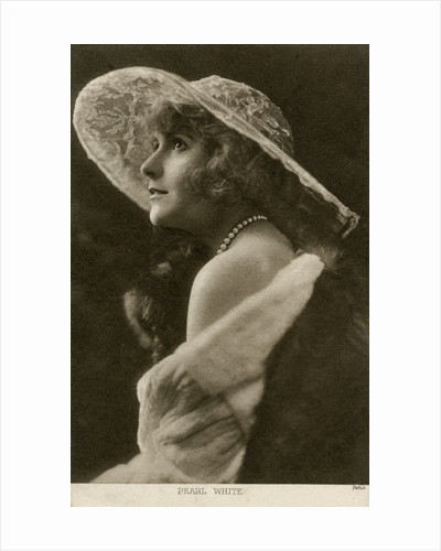 Pearl White, American actress and film star by Pathe
