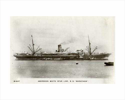 SS Marathon, Aberdeen White Star Line steamship by Kingsway