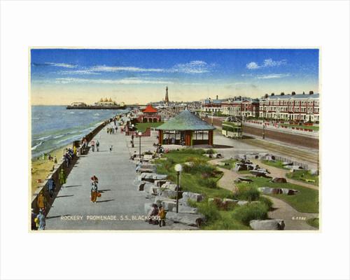 Rockery Promenade, Blackpool, Lancashire by Anonymous