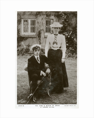 The King and Queen of Spain at Osborne Cottage, Isle of Wight by Anonymous
