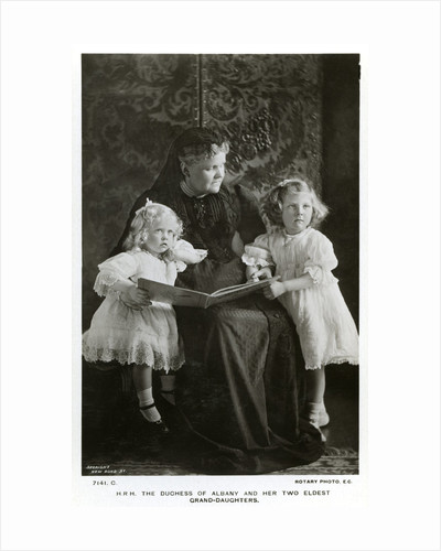 The Duchess of Albany and her two eldest granddaughters by Speaight