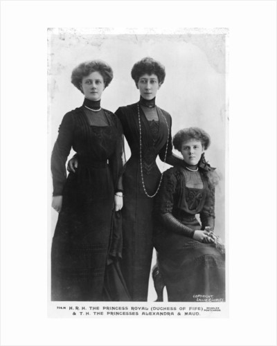 The Duchess Royal (Duchess of Fife) and Princesses Alexandra and Maud by Lallie Charles