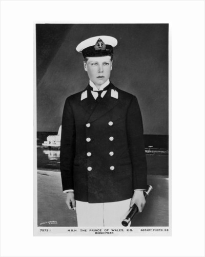 The Prince of Wales in the uniform of a midshipman by Rotary Photo