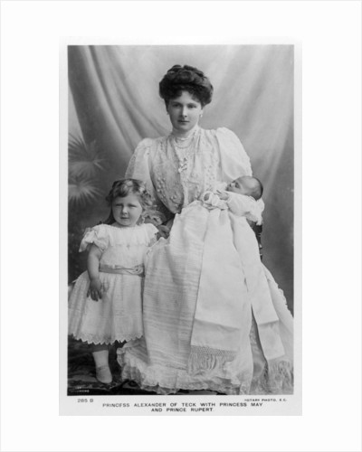 Princess Alexander of Teck with Princess May and Prince Rupert by Stuart Richmond