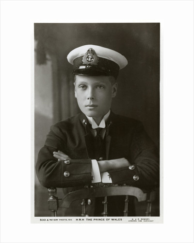 The Prince of Wales in naval uniform by W&D Downey