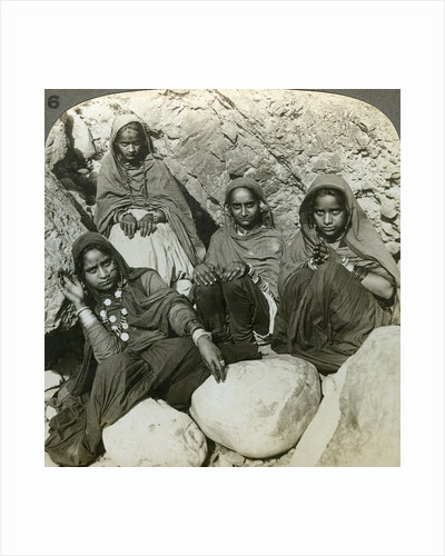 Native 'Bhujji' girls, River Sutlej, Himalayas, India by Underwood & Underwood
