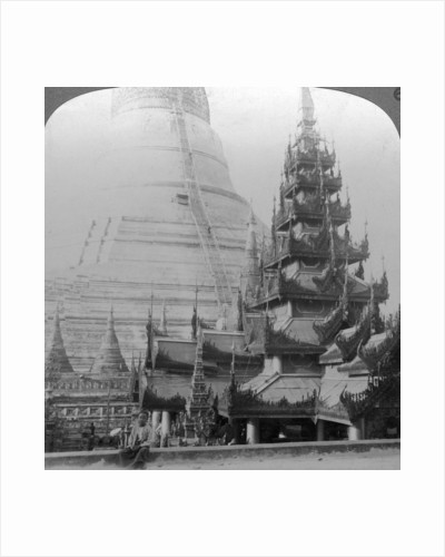 Shwedagon Pagoda, Rangoon, Burma by Underwood & Underwood