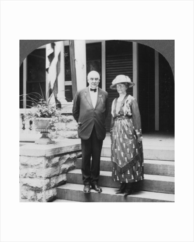 President and Mrs Harding at their home, Marion, Illinois, USA by Keystone View Company