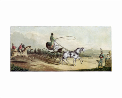 The Prince Regent driving Mrs Q on the road to Brighton by Anonymous