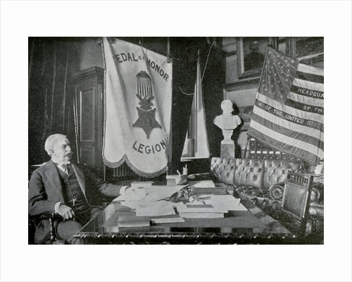 Nelson A Miles, US Army general, at his headquarters by Anonymous