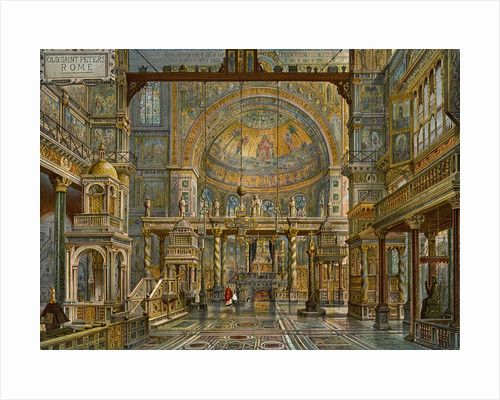 'Restoration of Old St Peter's, Rome' by HW Brewer