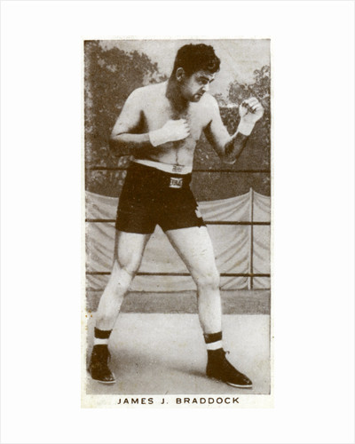 James J Braddock, Irish-American boxer by Anonymous